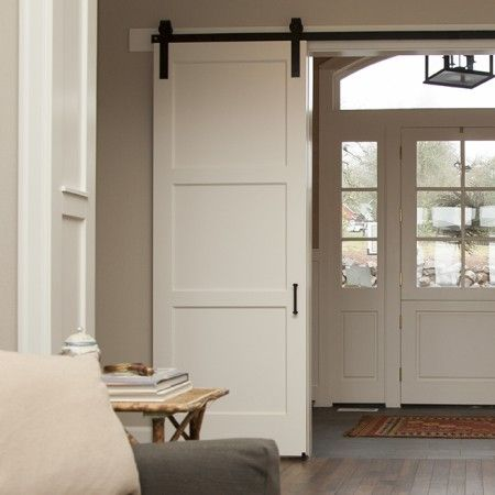 3 Panel Craftsman Sliding Barn Door Artisan Hardware White Barn Door Sliding Doors Interior 3 Panel Interior Doors