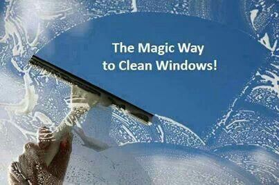 Quickly Clean Windows Using Water Finish Rinse Aid And