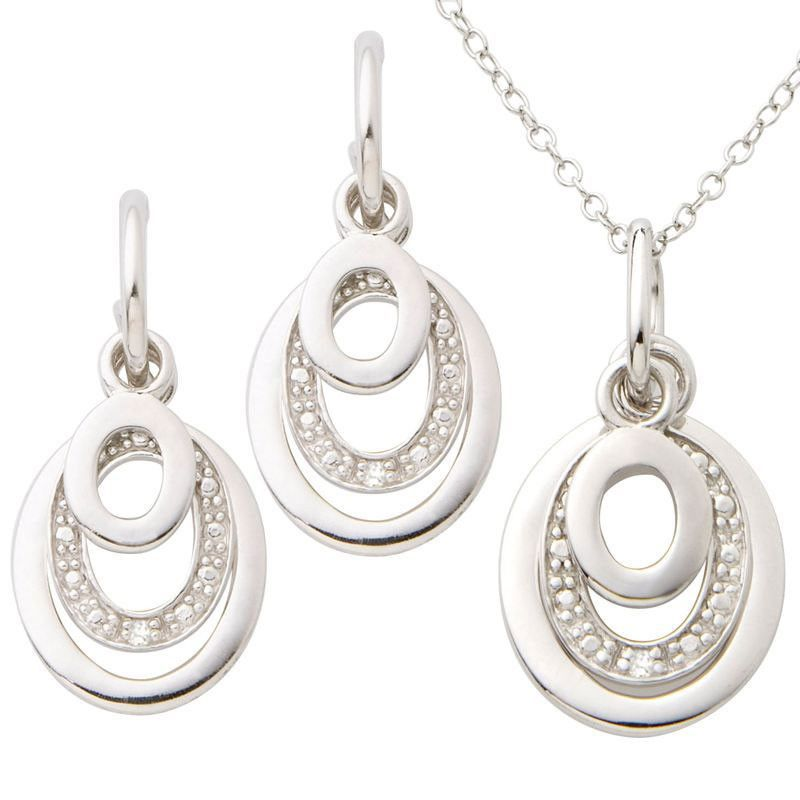 Jilco Diamond Earring Necklace Set