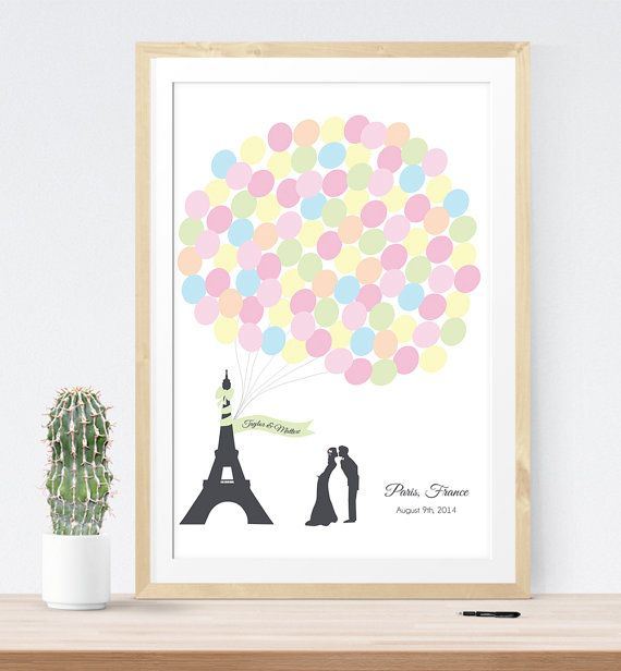 MUST have this guest book for Paris themed wedding!