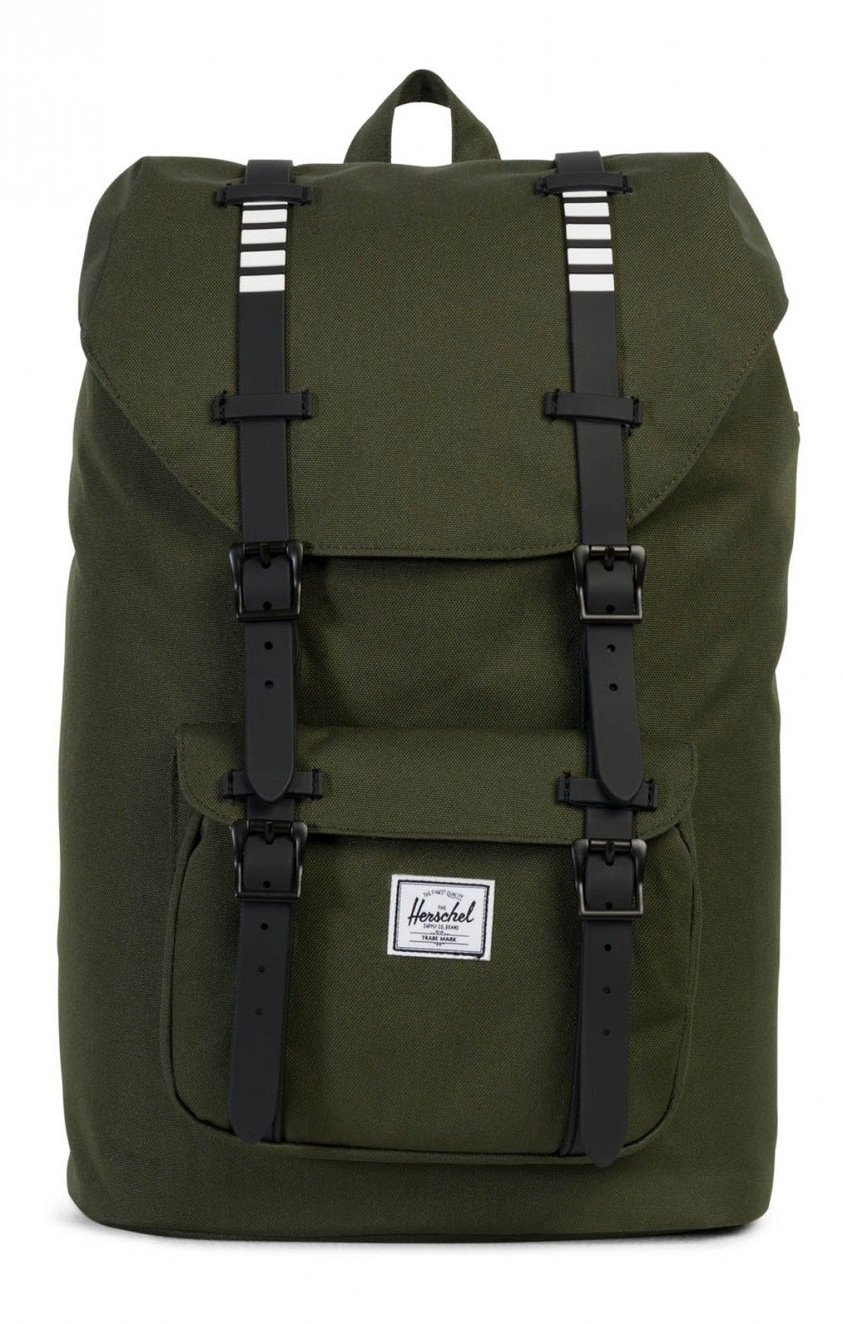 95c4bb03200 Herschel Little America Mid Backpack Poly Rubber Forest Night Black ...