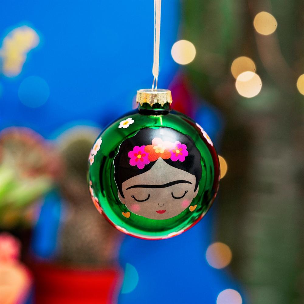 Frida Floral Bauble #weihnachtsdekoimglasmitkugeln