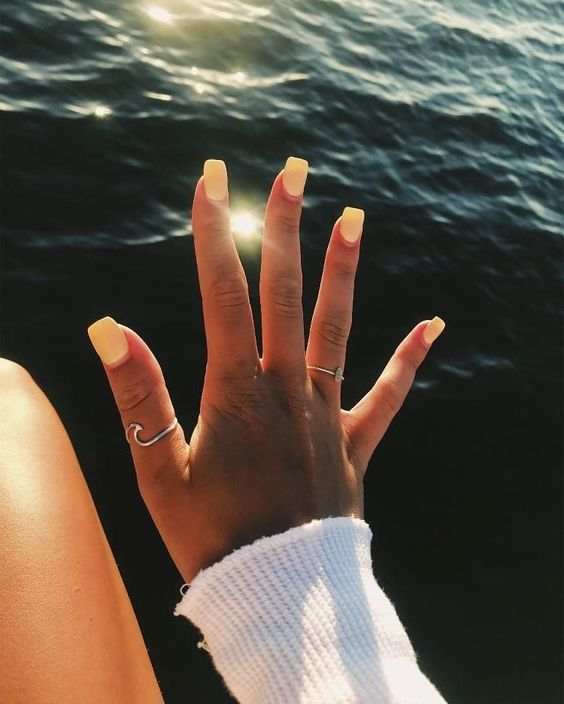 61 Simple Short Acrylic Summer Nails Designs For 2019 Koees Blog Summer Acrylic Nails Short Acrylic Nails Pretty Acrylic Nails