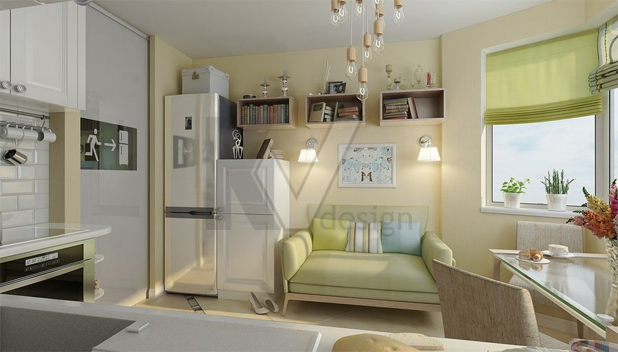 Дизайн проект трёхкомнатной квартиры п44т
