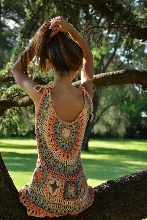 Vestido pastel espalda