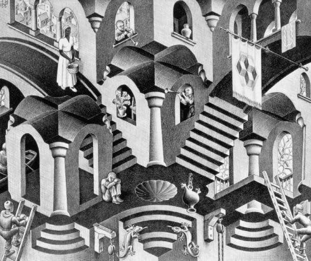 Las Obras Imposibles De M C Escher Cultura Colectiva Arte De Escher Produccion Artistica Arte Optico