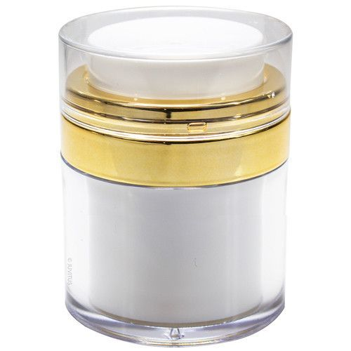 White and Gold Airless Jar - 1 oz