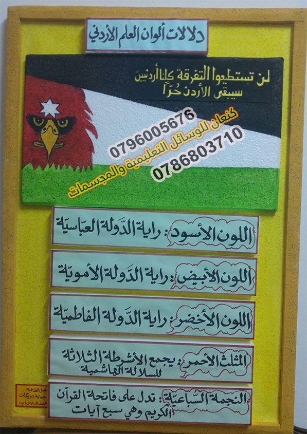 دلالات العلم الأردني وألوانه Book Cover Signs Books