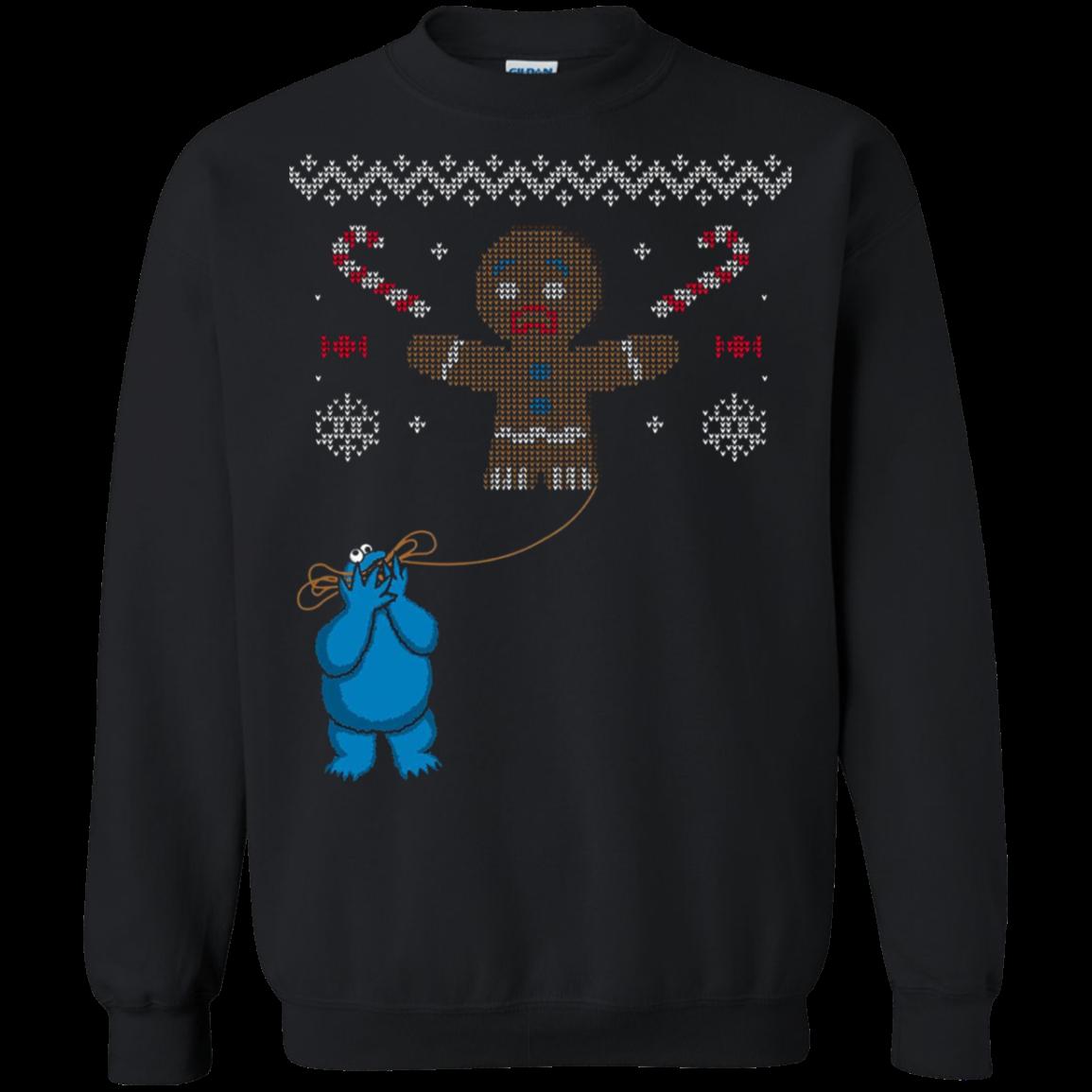 Sesame Street Cookie Monster Eating Christmas Knit Pattern
