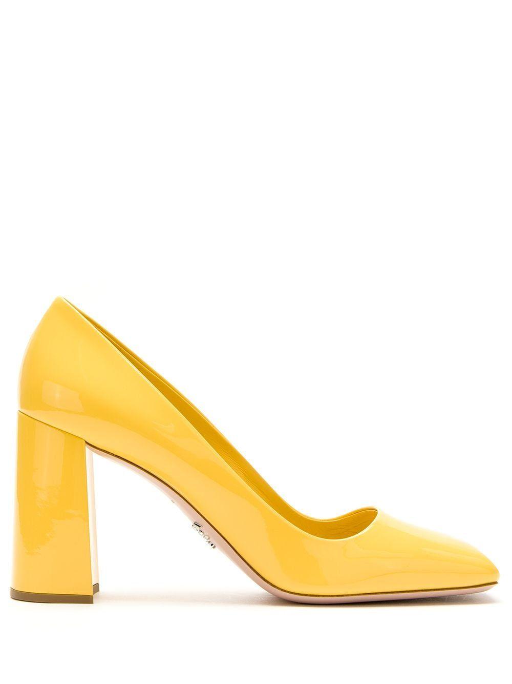Prada PRADA 1I983LF085069 F0323 GIRASOLE Furs & Skins->Calf Leather - Yellow