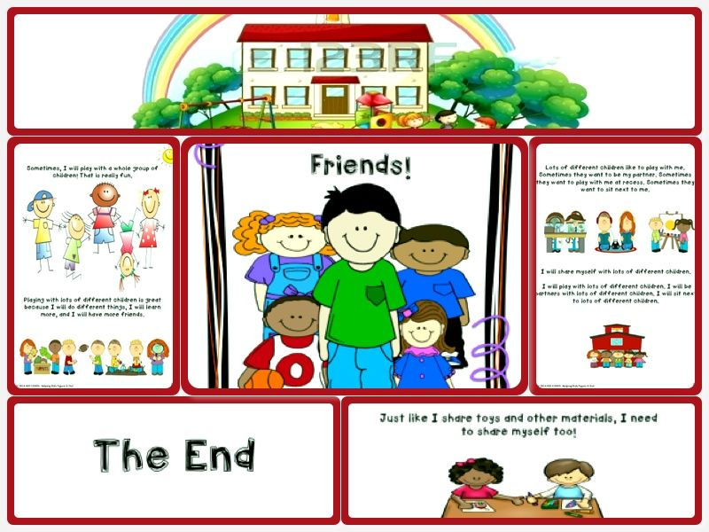 We Can Do Lots More For Students With >> I Can Share Myself With Lots Of Friends Social Story Skill Builder