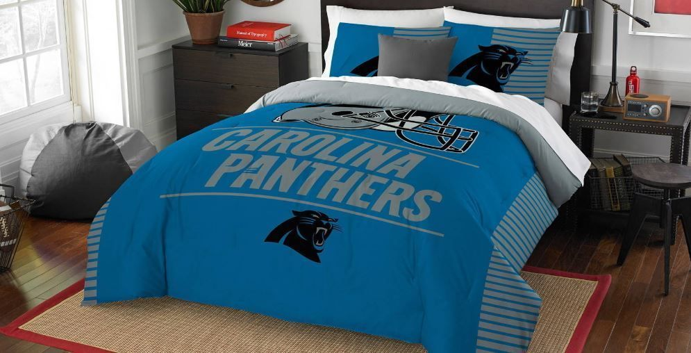 63e76393b9e Comforter Set Full/Queen Carolina Panthers NFL Draft 3 Pc Bedding Bed in a  Bag #Northwest #CarolinaPanthers