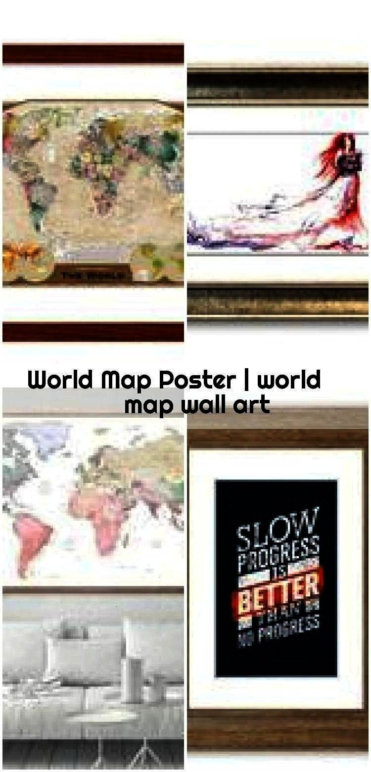 world map wall art World Map Poster  world map wall art  World Map Poster  world map wall art  If you need extra large format please send me a message  The photo frame is...