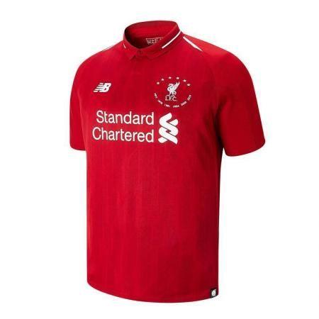 Liverpool FC Black Mens Football NB Sportswear Polo T-Shirt 18//19 LFC Official