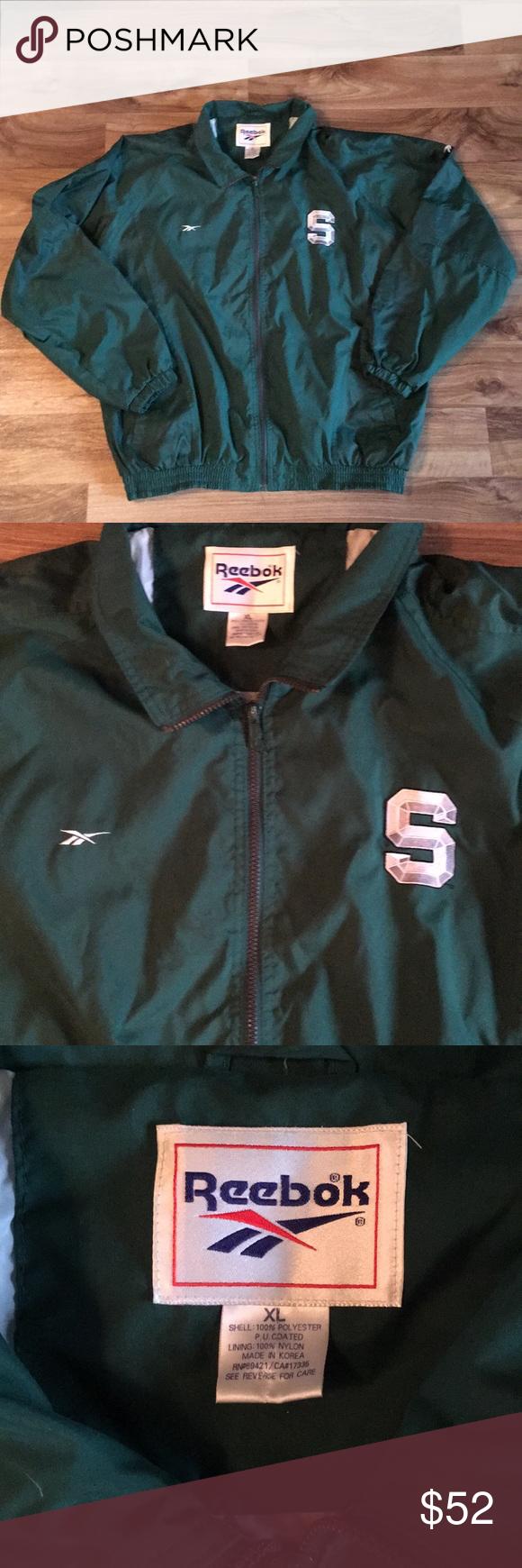 Vintage Reebok Michigan State Jacket Super Rad Vtg Msu Spartans Jacket From Reebok Men S Xl No Tears Or Stains Reebok Ja Vintage Reebok Reebok Clothes Design [ 1740 x 580 Pixel ]