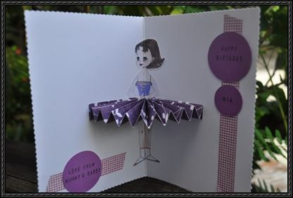 Ballerina Greeting Card Free Papercraft Download Printable Valentines Cards Pop Up Card Templates Cards