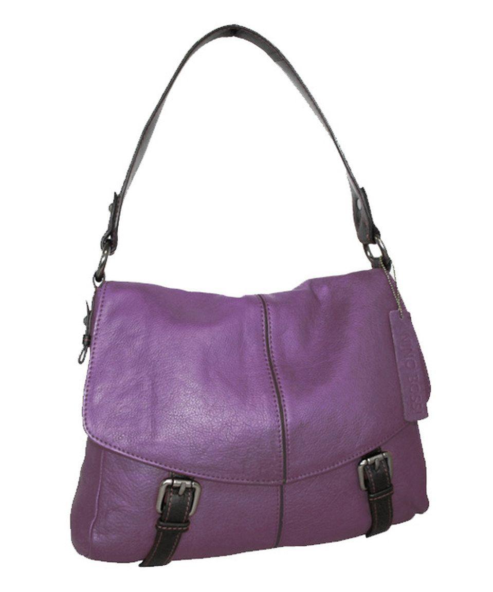 This Nino Bossi Handbags Grape Taylor Leather Shoulder Bag by Nino Bossi Handbags is perfect! #zulilyfinds