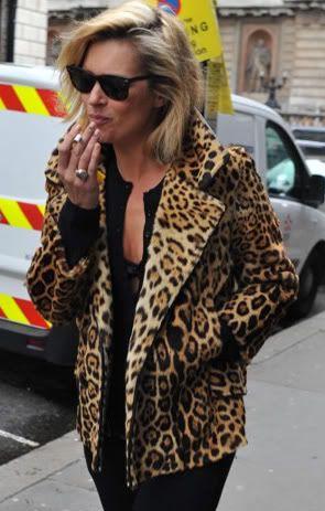 Kate Moss in leopard