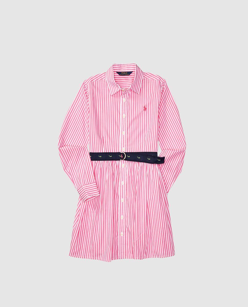 68059eb55 Vestido de niña Polo Ralph Lauren con rayas bicolor