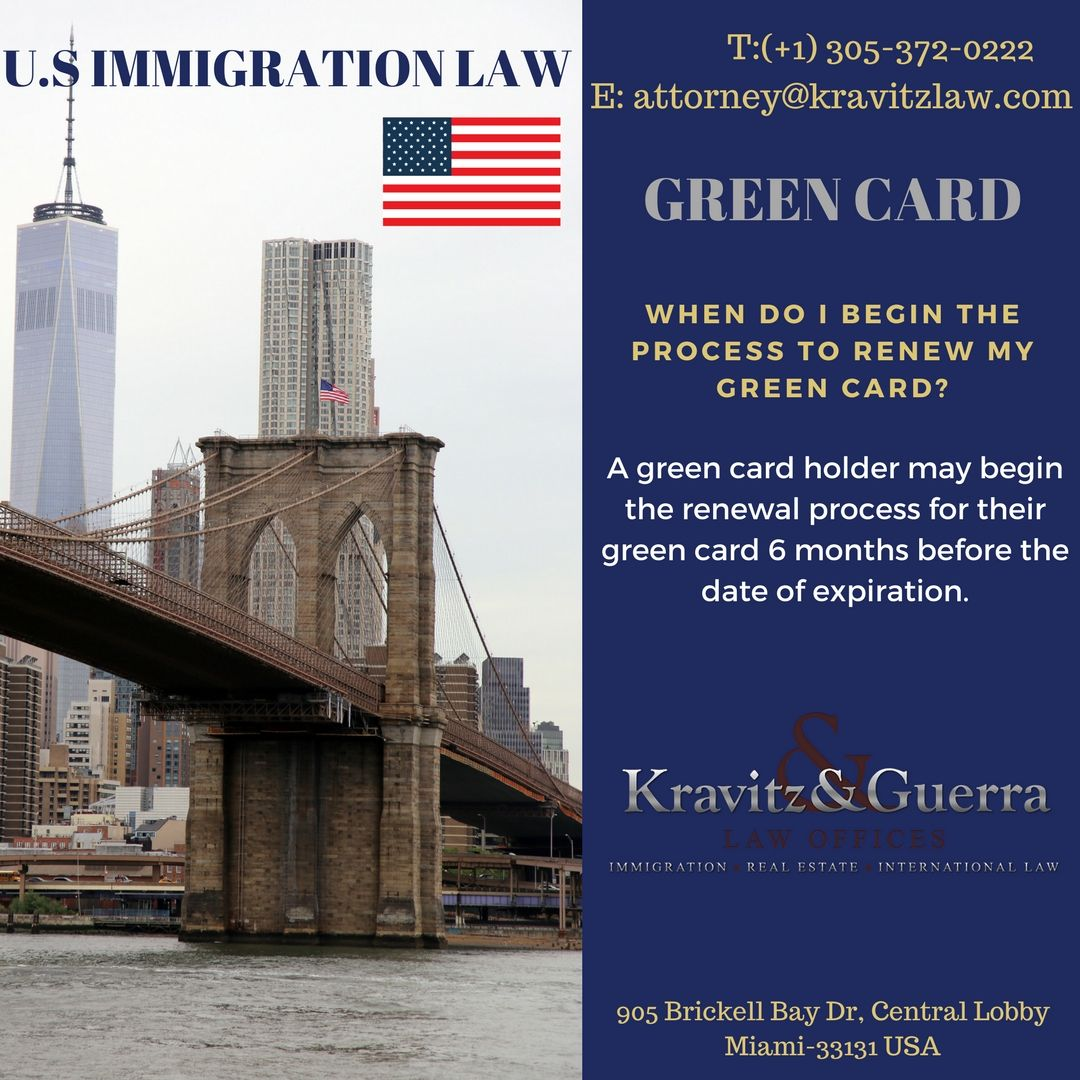 Green card process to renew my green card green cards