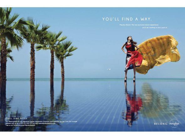 """""""Meydan Beach: You'll find a way"""" gefunden auf www.adsoftheworld.com gepinned von der Hamburger Werbeagentur BlickeDeeler. Weitere Infos zu unserer FullService-Agentur gibt es auf www.blickedeeler.de"""
