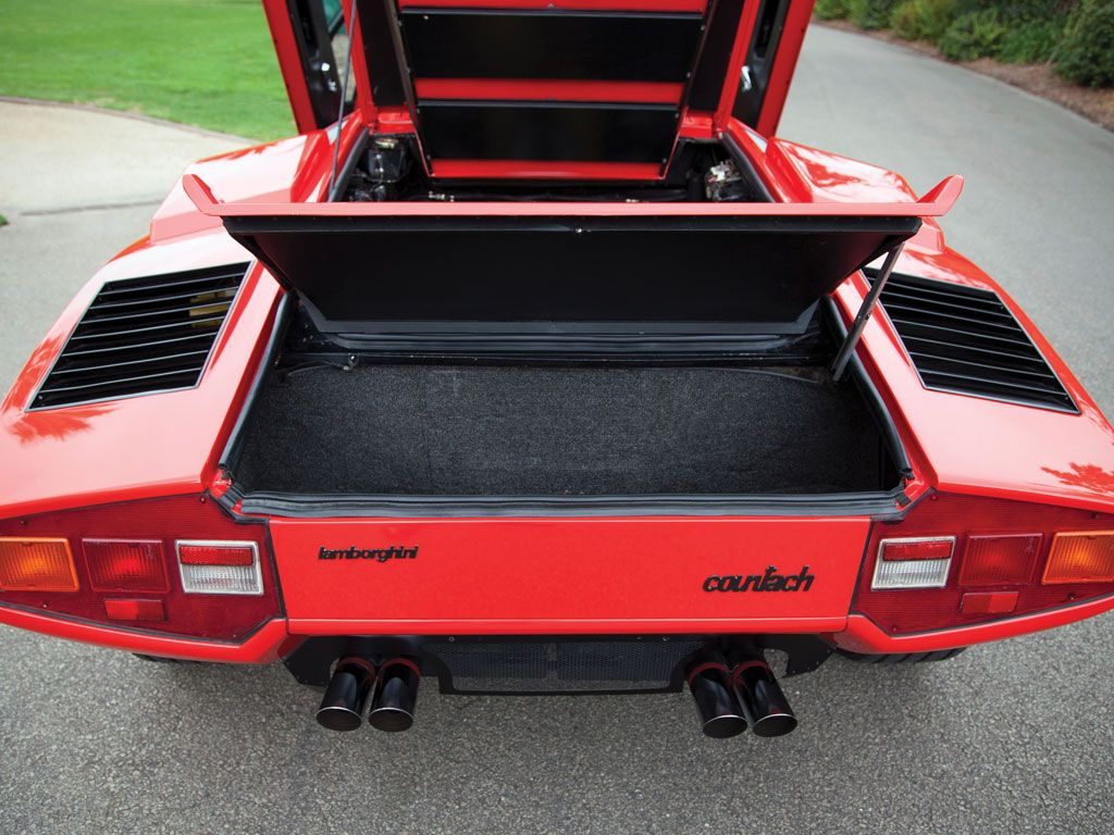 1977 Lamborghini Countach Lp400 Periscopio Rhd Rear Trunk Hood
