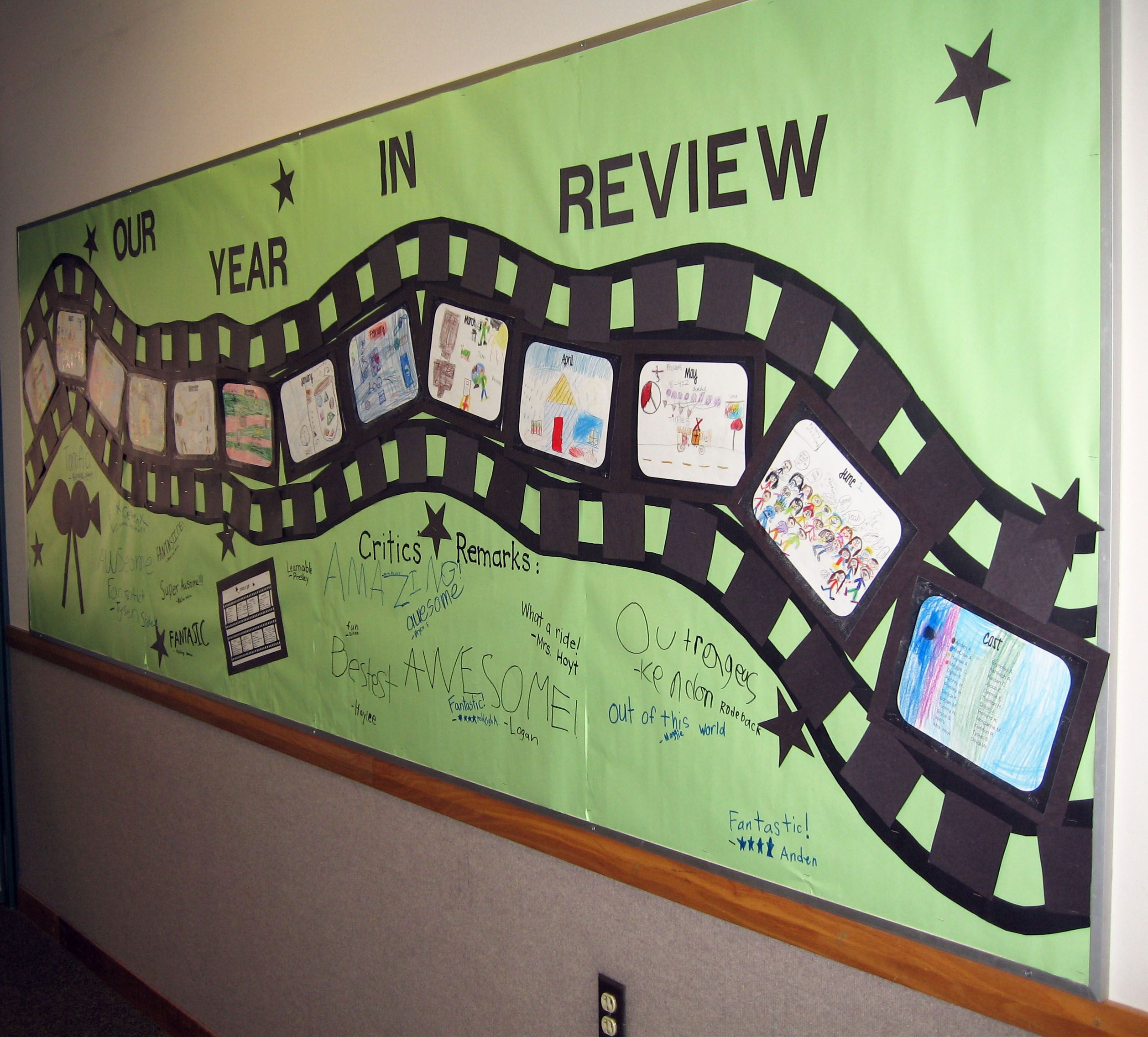 Classroom Review Ideas ~ Classroom snapshot a year in review is perfect way to