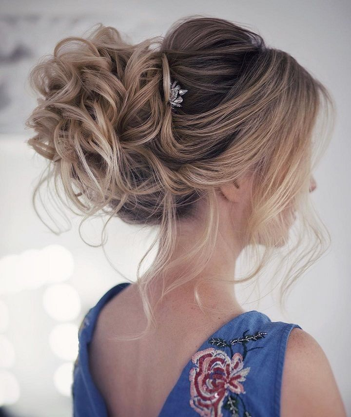 25 Fabulous swept back wedding hairstyles | Long hair styles, Hair styles, Bride hairstyles