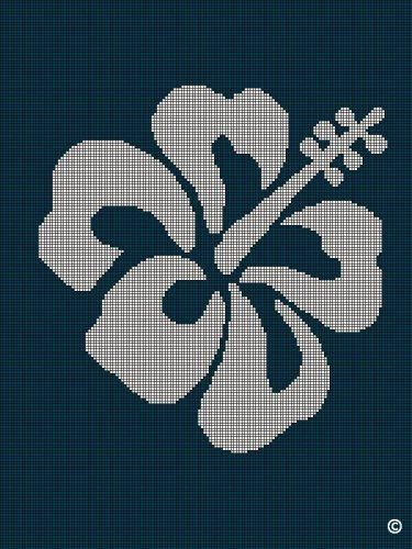 crochet+hibiscus+pattern | HIBISCUS FLOWER BLUE CROCHET PATTERN ...