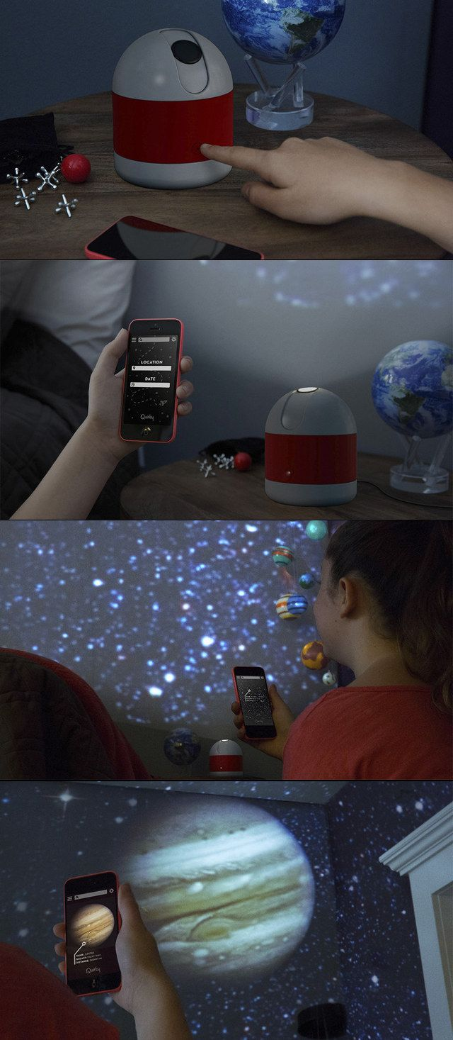 Bedroom planetarium projector for kids - Sleeping Under The Stars Luna A Smartphone Enabled Personal Planetarium Projector