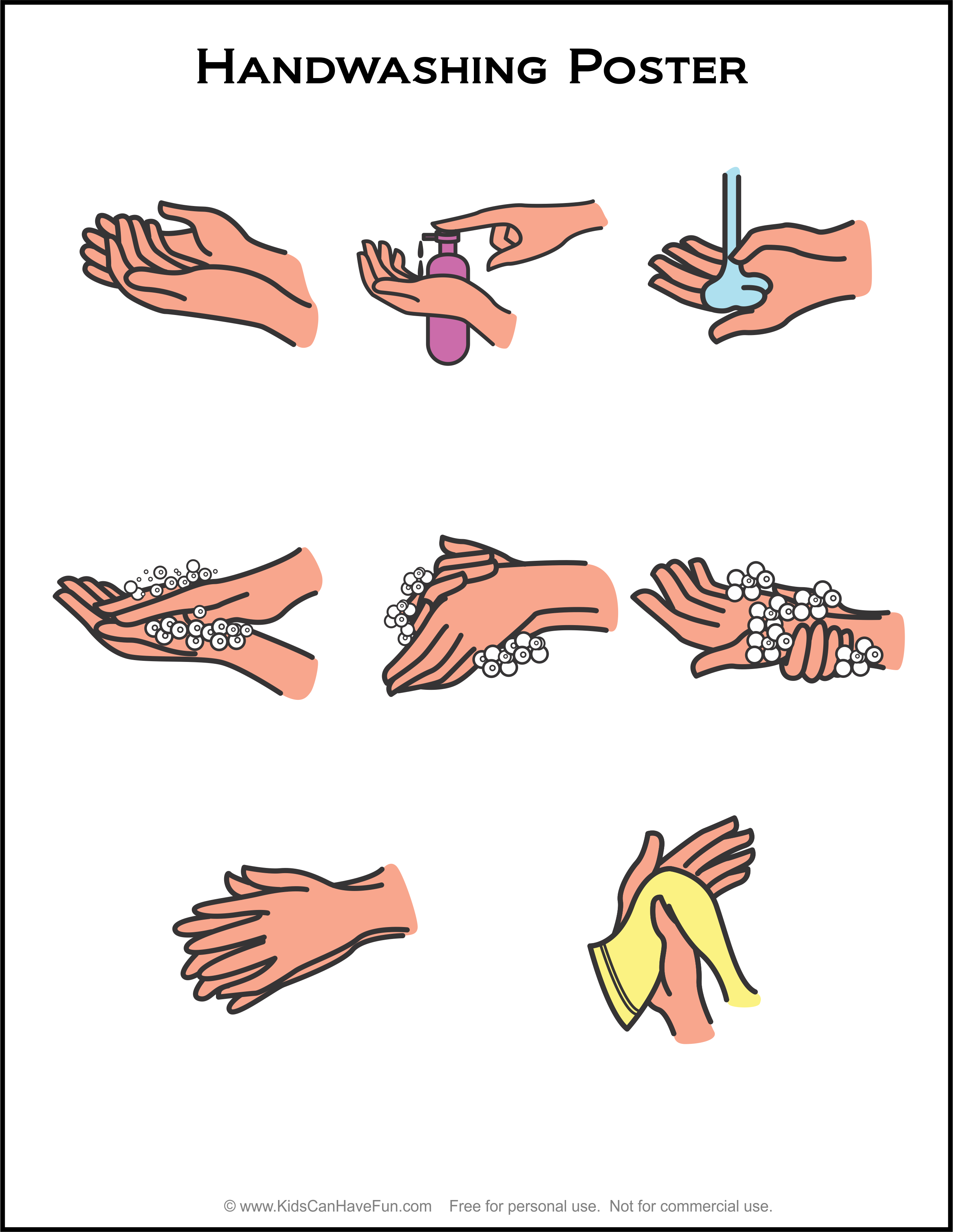Hand Washing Poster In