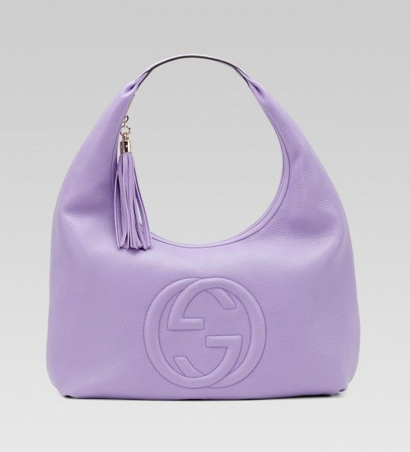 8ad177dbecd Gucci lilac leather soho hobo