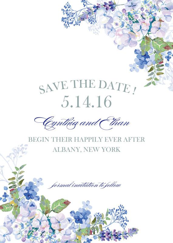 hydrangea watercolor garden save the date by whoanelliepress
