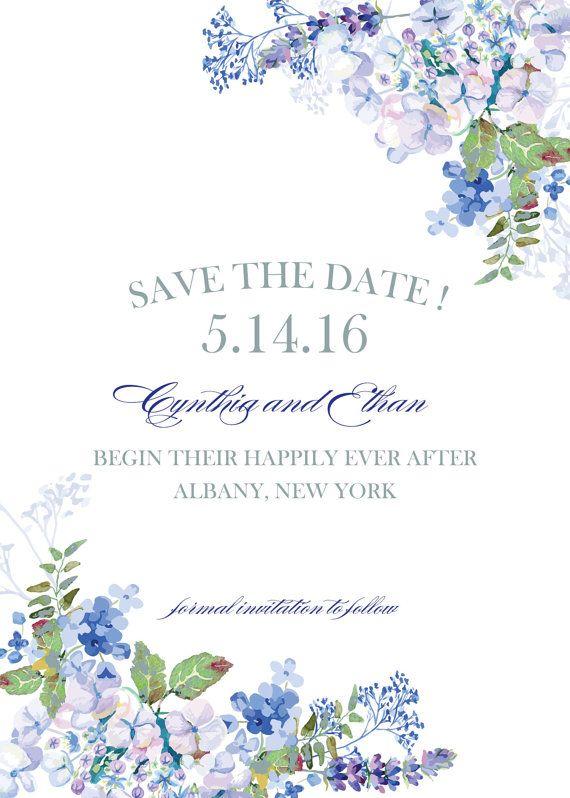 Hydrangea Watercolor Garden Wedding Invitations By Whoanelliepress
