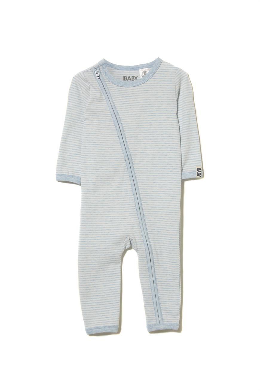 9e3a62eaf26a Core Zip Romper. Soft stretch cotton. The diagonal zip allows for ...