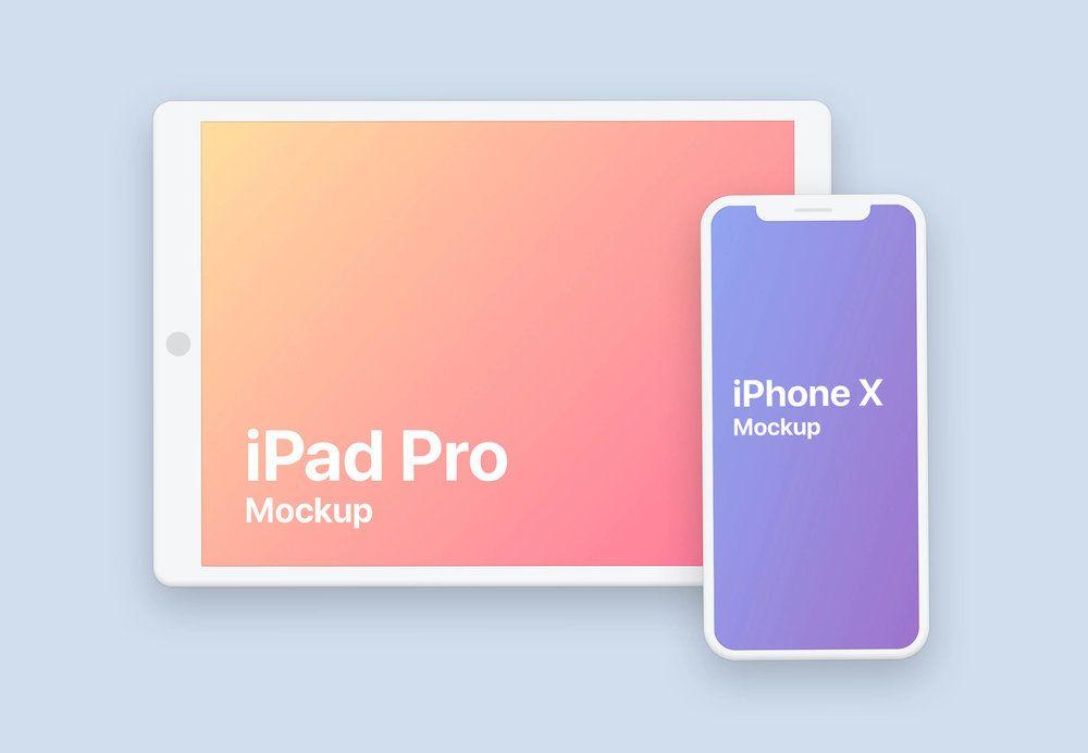 Clay Iphone Ipad Pro Design Mockup Mockup Templates Ipad Pro Ipad