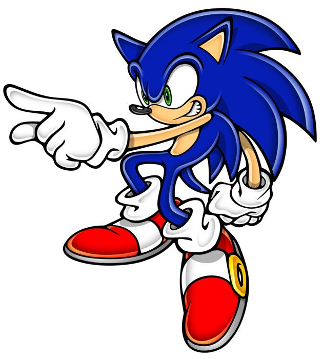 Sonic Pointing In 2020 Sonic Adventure Sonic Sonic The Hedgehog