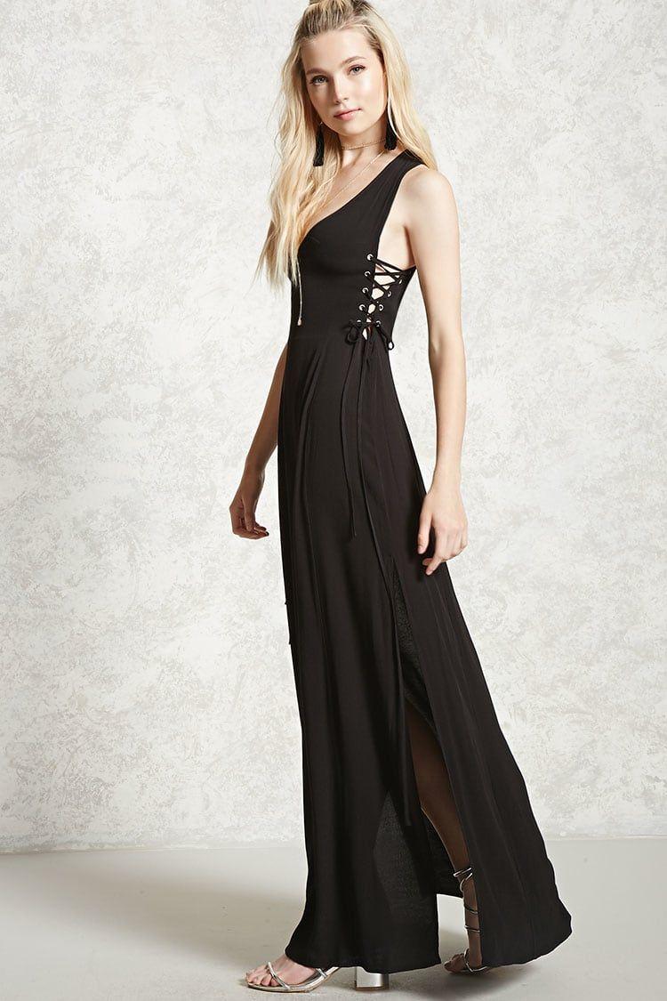 Contemporary laceup maxi dress women new arrivals