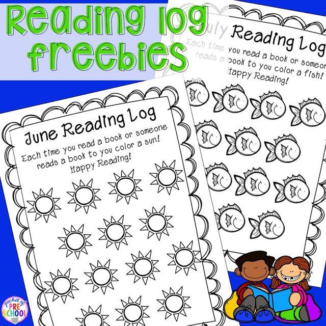 Reading Logs & Parent Letter (homework for preschoolers ...
