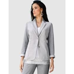 Photo of Amy Vermont, jersey blazer with metallized yarn, gray Amy Vermont