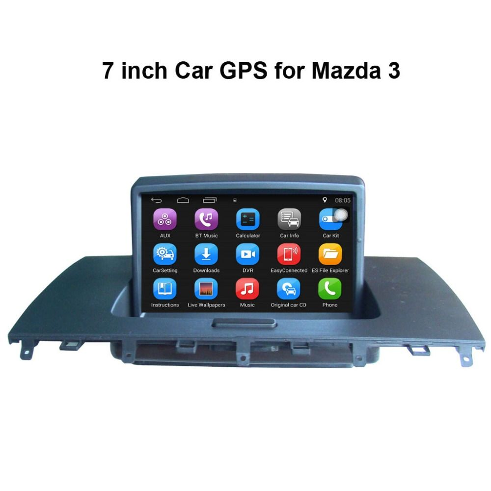 android car media player for mazda 3 original car upgrade car video keep original radio  [ 1000 x 1000 Pixel ]
