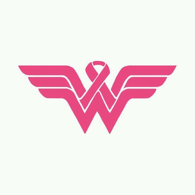1 wonder woman cancer survivor  vinyl sticker decal white and pink