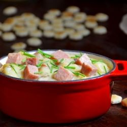 With over 6000 5-star reviews, I knew this Ham and Potato Soup was gonna rock. #foodgawker