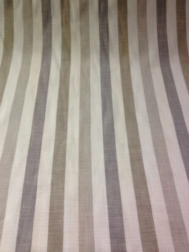 Cotton Curtain Fabric Beige Cream Taupe Amp Grey Stripe