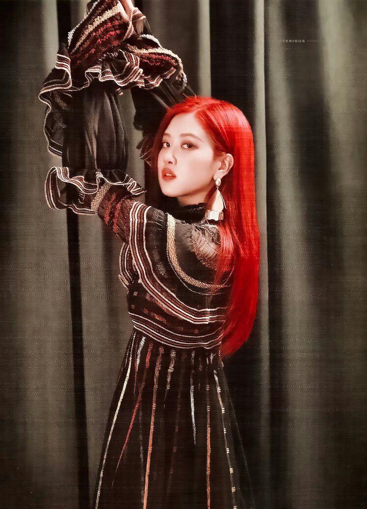 Rose Slaying The Red Hair Rose Blackpink Rose Park Blackpink