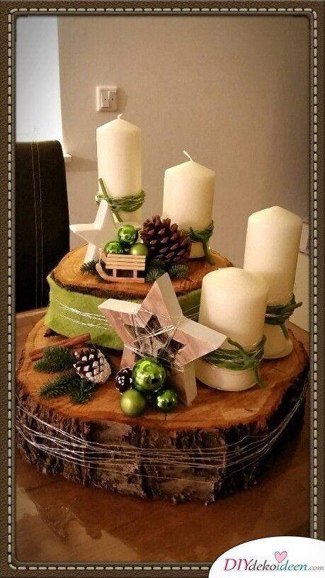 DIY Bastelideen - Adventskranz basteln in der Vorweihnachtszeit