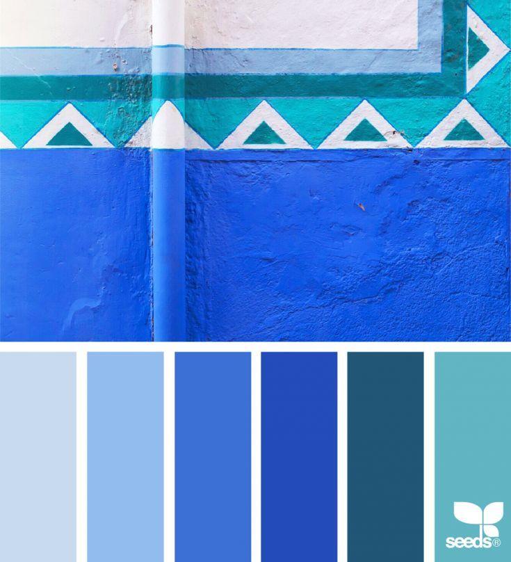 Blau Farbkarte: Farbpalette Blau, Farben Und Königsblau Farbe
