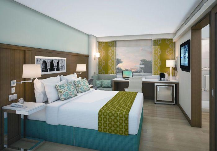 nice schlafzimmer einrichten ideen gästezimmer gestalten arbeitsbüro ...