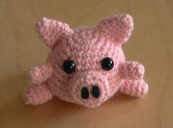 Amigurumi Tuto : Tuto amigurumi cochon porte clés amigurimi