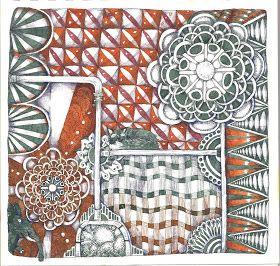 Life Imitates Doodles aka molossus aka Sandra Strait. The plaid grid is fascinating.